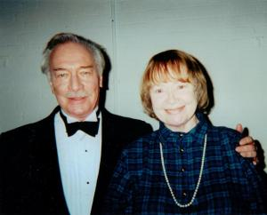 Daphne Neville with Christopher Plummer 2001
