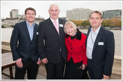 Daphne Neville with Daniel Allen, Dave Webb and Nick Wilcox-Brown at Conservation in Action Awards