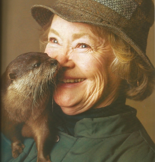 Daphne Neville with her otter in Country Life May 2005