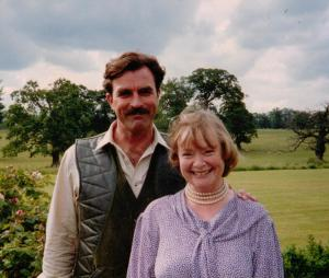 Daphne Neville with Tom Selleck