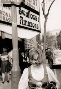 Daphne Neville at the London premier of Swallows and Amazons