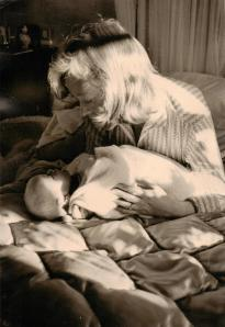 Daphne Neville with Sophie as a baby