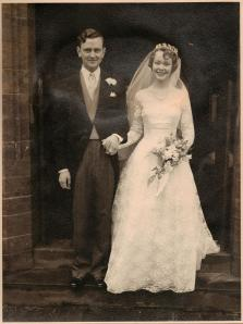 Martin and Daphne Neville on their wedding day