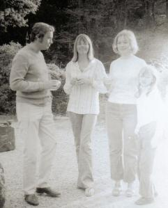 Martyn Lewis, Liz Carse, Daphne and Sophie Neville about 1969